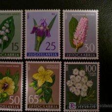 Sellos: YUGOSLAVIA 1963 IVERT 931/6 *** FLORES DIVERSAS - FLORA. Lote 34445821