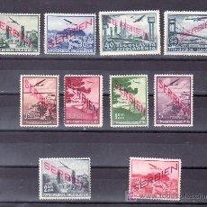 Sellos: SERBIA (OCUPACION ALEMANA) AEREO 1/10 SIN GOMA, SOBRECARGADO, . Lote 11966778