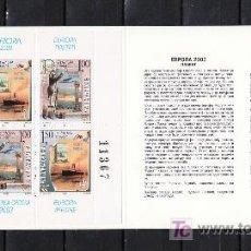 Sellos: BOSNIA-REPUBLICA SERBE (PALE) 253/4 CARNET SIN CHARNELA, TEMA EUROPA 2003, EL ARTE DEL CARTEL, AVION. Lote 11130227