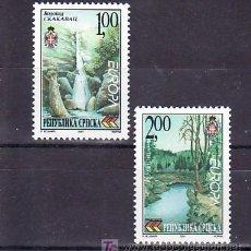 Sellos: BOSNIA-REPUBLICA SERBE (PALE) 204/5 SIN CHARNELA, TEMA EUROPA 2001, AGUA RIQUEZA NATURAL, NATURALEZA. Lote 11130356