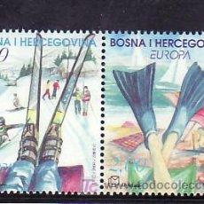 Sellos: BOSNIA-HERZEGOVINA - HERCEG BORNA 105/6 SIN CHARNELA, TEMA EUROPA 2004, VACACIONES, DEPORTE, . Lote 11130402