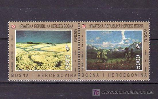 BOSNIA-HERZEGOVINA - HERCEG BORNA 1F/G SIN CHARNELA, TEMA EUROPA 1993, ARTE CONTEMPORANEO, (Sellos - Extranjero - Europa - Yugoslavia)