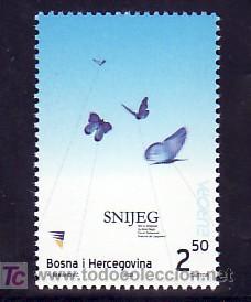 BOSNIA-HERZEGOVINA 397 SIN CHARNELA, TEMA EUROPA 2003, EL ARTE DEL CARTEL, MARIPOSA, (Sellos - Extranjero - Europa - Yugoslavia)