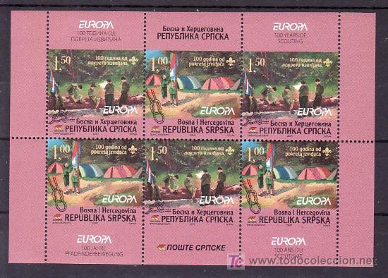 BOSNIA-REPUBLICA SERBE (PALE) AÑO 2007 HB SIN CHARNELA, TEMA EUROPA 2007, BOYS SCOUTS, DEPORTE, (Sellos - Extranjero - Europa - Yugoslavia)