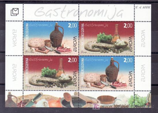 BOSNIA-HERZEGOVINA AÑO 2005 HB SIN CHARNELA, TEMA EUROPA 2005, GASTRONOMIA, (Sellos - Extranjero - Europa - Yugoslavia)