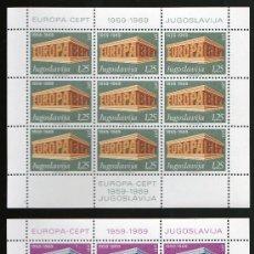 Sellos: YUGOSLAVIA AÑO 1969 YV 1252/53*** 2 HB EN MP - EUROPA. Lote 26837884
