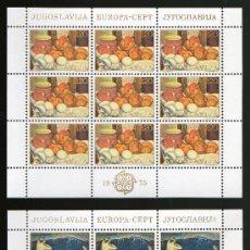 Sellos: YUGOSLAVIA AÑO 1975 YV 1479/80*** 2 HB EN MP - EUROPA - PINTURA - ARTE. Lote 26631810