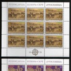 Sellos: YUGOSLAVIA AÑO 1979 YV 1663/64*** 2 HB EN MP - EUROPA - CORREO Y TELECOMUNICACIONES. Lote 27253315