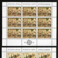 Sellos: YUGOSLAVIA AÑO 1981 YV 1769/70*** 2 HB EN MP - EUROPA - FOLKLORE - TRADICIONES POPULARES. Lote 26631812