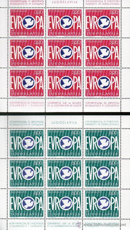YUGOSLAVIA AÑO 1975 YV 1506/07*** 2 HB EN MP - CONFERÉNCIA SEGURIDAD EN EUROPA (Sellos - Extranjero - Europa - Yugoslavia)