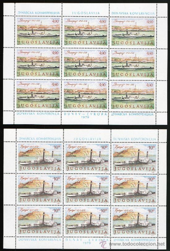 YUGOSLAVIA AÑO 1979 YV 1699/00*** 2 HB EN MP - CONFERÉNCIA DE DONAU - BARCOS - TRANSPORTES (Sellos - Extranjero - Europa - Yugoslavia)