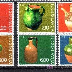 Sellos: YUGOSLAVIA.- YVERT 1541/46 CERAMICA POPULAR TOTALMENTE NUEVA . Lote 15119603