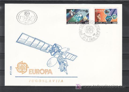 YUGOSLAVIA 2251/2 PRIMER DIA, TEMA EUROPA, TRANSPORTES Y COMUNICACIONES, (Sellos - Extranjero - Europa - Yugoslavia)