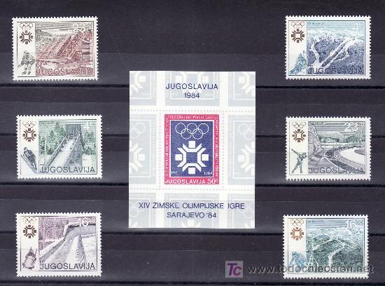 YUGOSLAVIA 1891/6, HB 21 SIN CHARNELA, DEPORTE, JUEGOS OLIMPICOS DE INVIERNO EN SARAJEVO, (Sellos - Extranjero - Europa - Yugoslavia)
