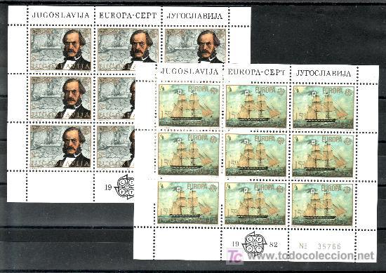 YUGOSLAVIA 1804/5 MINIPLIEGO SIN CHARNELA, TEMA EUROPA, HECHOS HISTORICOS, (Sellos - Extranjero - Europa - Yugoslavia)