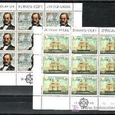 Sellos: YUGOSLAVIA 1804/5 MINIPLIEGO SIN CHARNELA, TEMA EUROPA, HECHOS HISTORICOS,. Lote 21047809