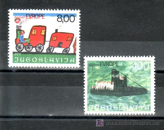 YUGOSLAVIA 1553/4 SIN CHARNELA, 8ª REUNION DE NIÑOS DE EUROPA, ALEGRIA DE EUROPA, DIBUJOS INFANTILES (Sellos - Extranjero - Europa - Yugoslavia)