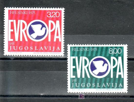 YUGOSLAVIA 1506/7 SIN CHARNELA, CONFERENCIA SOBRE LA SEGURIDAD Y LA COOPERACION DE EUROPA (Sellos - Extranjero - Europa - Yugoslavia)