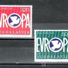 Sellos: YUGOSLAVIA 1506/7 SIN CHARNELA, CONFERENCIA SOBRE LA SEGURIDAD Y LA COOPERACION DE EUROPA . Lote 17693317