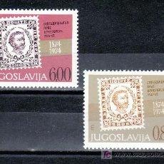 Sellos: YUGOSLAVIA 1432/3 SIN CHARNELA, CENTENARIO DEL PRIMER SELLO DE MONTENEGRO. Lote 114683692