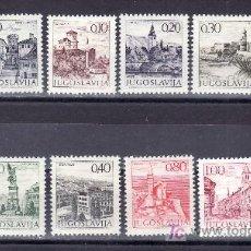Sellos: YUGOSLAVIA 1351/60, 1353A, 1357A CON CHARNELA, TURISMO . Lote 25249355