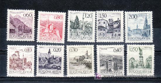 YUGOSLAVIA 1351/60 SIN CHARNELA, TURISMO (Sellos - Extranjero - Europa - Yugoslavia)