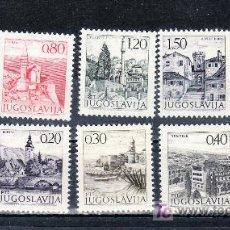 Sellos: YUGOSLAVIA 1351/60 SIN CHARNELA, TURISMO . Lote 27405874