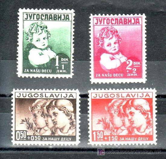 YUGOSLAVIA 314/7 SIN CHARNELA, A BENEFICIO DE LA INFANCIA, (Sellos - Extranjero - Europa - Yugoslavia)