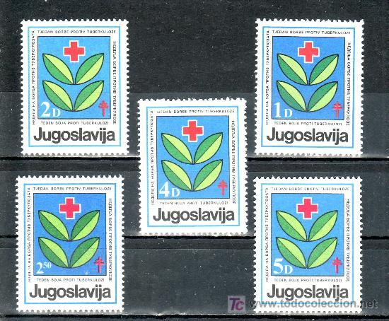 YUGOSLAVIA BENEFICENCIA 91/5 SIN CHARNELA, EN FAVOR DE LA CRUZ ROJA, LUCHA CONTRA LA TUBERCULOSIS (Sellos - Extranjero - Europa - Yugoslavia)