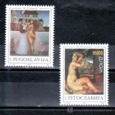 Sellos: YUGOSLAVIA 2461/2 SIN CHARNELA, TEMA EUROPA, PINTURA, . Lote 19867080