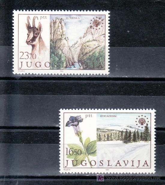 YUGOSLAVIA 1883/4 SIN CHARNELA, FAUNA, FLORES, PROTECCION DEL MEDIO AMBIENTE (Sellos - Extranjero - Europa - Yugoslavia)