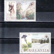 Sellos: YUGOSLAVIA 1883/4 SIN CHARNELA, FAUNA, FLORES, PROTECCION DEL MEDIO AMBIENTE . Lote 17650560