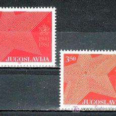 Sellos: YUGOSLAVIA 1779/80 SIN CHARNELA, 40º ANIVERSARIO DE LA RESISTENCIA,. Lote 113478139