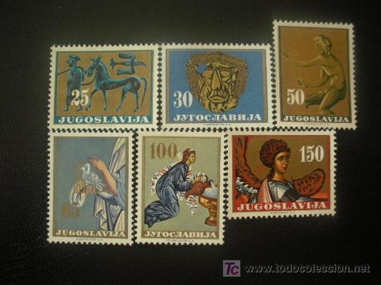 YUGOSLAVIA 1962 IVERT 923/8 *** DÍA DE LA REPUBLICA - ARTE YUGOSLAVO - ARQUEOLOGÍA (Sellos - Extranjero - Europa - Yugoslavia)