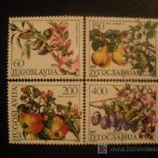 Sellos: YUGOSLAVIA 1987 IVERT 2100/3 *** FLORES Y FRUTOS - FLORA. Lote 20778859