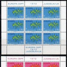 Sellos: YUGOSLAVIA AÑO 1972 YV 1343/44*** 2 HB EN MP - EUROPA . Lote 27611347