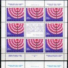 Sellos: YUGOSLAVIA AÑO 1984 YV 1951/52*** 2 HB EN MP - CONFERENCIA COOPERACIÓN EUROPEA. Lote 27465428