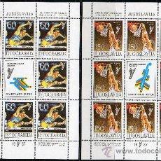 Sellos: YUGOSLAVIA AÑO 1987 YV 2111/14*** 4 HB EN MP - JUEGOS DEPORTIVOS UNIVERSIADA'87 ZAGREB - DEPORTES. Lote 27485522