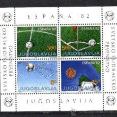 Timbres: YUGOSLAVIA***.AÑO 1982.YVERT 1807/1810.COPA MUNDIAL DE FUTBOL.. Lote 26531313