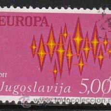 Sellos: YUGOESLAVIA IVERT 1344, EUROPA 1972, USADO. Lote 27975604