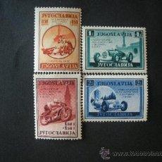 Sellos: YUGOSLAVIA 1939 IVERT 349/52 *** 1º CARRERA INTERNACIONAL DE AUTOMOVILES Y MOTOS EN BELGRADO. Lote 30622768