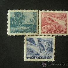 Sellos: YUGOSLAVIA 1949 IVERT 527/9 * INAUGURACIÓN DE LA AUTOPISTA BELGRADO - ZAGREB. Lote 30646612
