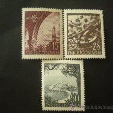 Sellos: YUGOSLAVIA 1952 IVERT 618/20 *** 10º ANIVERSARIO DE LA MARINA DE GUERRA. Lote 30647592