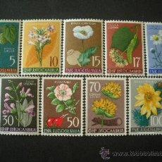 Sellos: YUGOSLAVIA 1955 IVERT 667/75 *** FLORA - PLANTAS DIVERSAS. Lote 30695442
