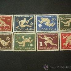 Sellos: YUGOSLAVIA 1956 IVERT 706/13 *** JUEGOS OLIMPICOS DE MELBOURNE - DEPORTES. Lote 30696225