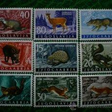 Sellos: YUGOSLAVIA 1960 IVERT 818/26 *** FAUNA - MAMIFEROS. Lote 30748428