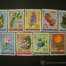 Sellos: YUGOSLAVIA 1961 IVERT 843/51 *** FLORA - PLANTAS MEDICINALES. Lote 30846334