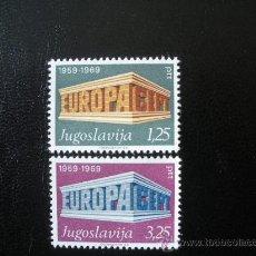 Sellos: YUGOSLAVIA 1969 IVERT 1252/3 *** EUROPA. Lote 39639825
