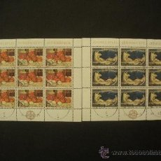 Sellos: YUGOSLAVIA 1975 IVERT 1479/80 MINIPLIEGO EUROPA - PINTURA. Lote 32374443