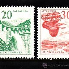 Sellos: YUGOSLAVIA 1027/28** - AÑO 1965 - INDUSTRIALIZACION. Lote 38950021